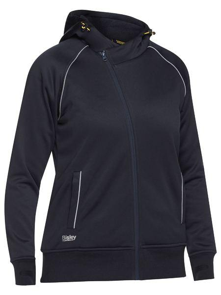 Bisley  Women's Fleece Zip Front Hoodie With Sherpa Lining-(BKL6925)