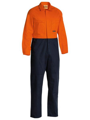 Bisley  2 Tone Hi Vis Coveralls Regular Weight-(BC6357)