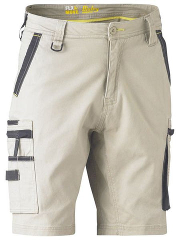 Bisley Flex & Stretch Utility Zip Cargo Short (BSHC1330)