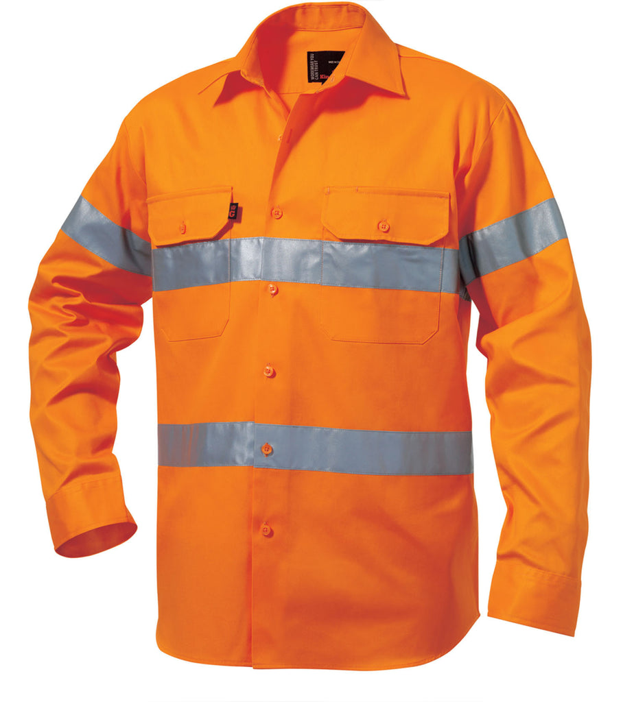 King Gee Reflective Drill Shirt L/S ( K54250)