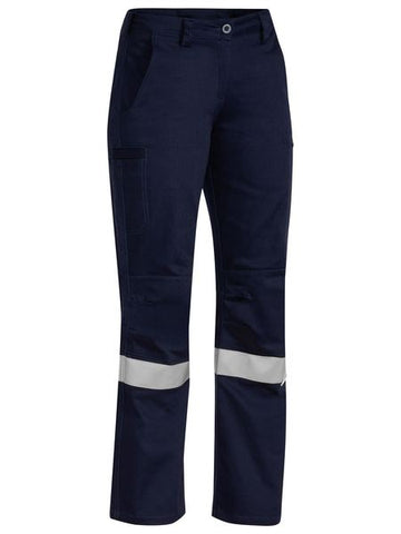Bisley 3m Taped Industrial Engineered Womens Drill Pant-(BPL6021T)