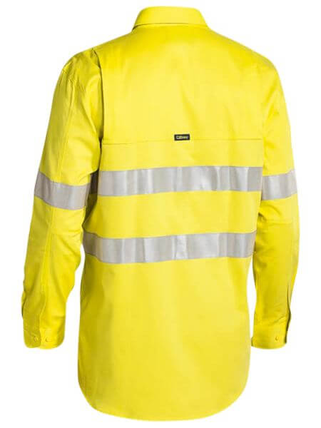 Bisley 3m Taped Hi Vis Mens Industrial Cool Vent Shirt-(BS6445T)
