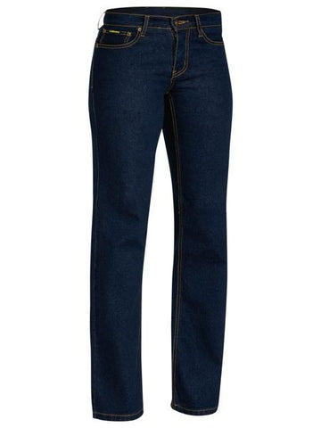 Bisley Ladies Denim Stretch Jeans-(BPL6712)