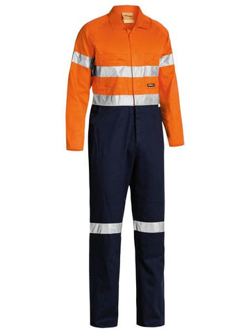 Bisley  2 Tone Hi Vis Lightweight Coveralls 3m Reflective Tape-(BC6719TW)