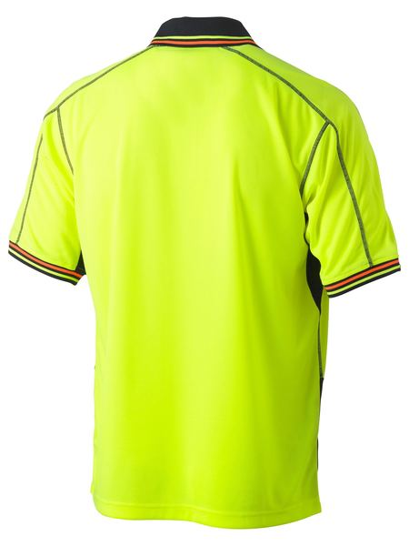 Bisley Two Tone Hi Vis Polyester Mesh Short Sleeve Polo Shirt (BK1219)