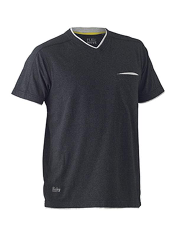 Bisley Flex & Move Cotton Rich V Neck Short Sleeve Tee (BK1933)