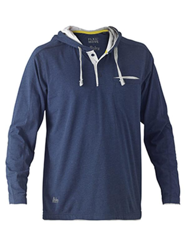 Bisley Flex & Move Cotton Rich Hoodies Long Sleeve Tee(BK6220)