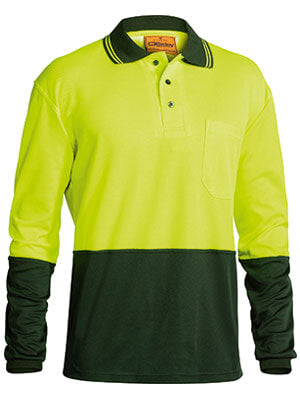 Bisley 2 Tone Hi Vis Polo Shirt - Long Sleeve-(BK6234)