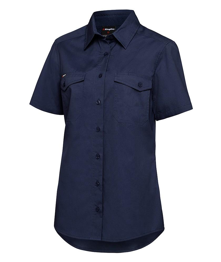 King Gee Womens Workcool 2 Shirt S/S (K44205)