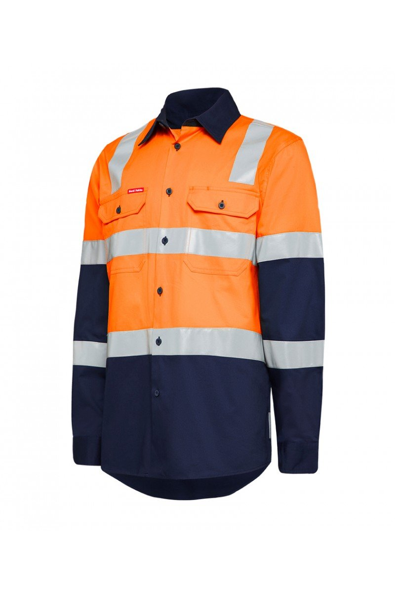 Hard Yakka Biomotion Hi Vis Shirts Two Tone With Tape (Y04270)