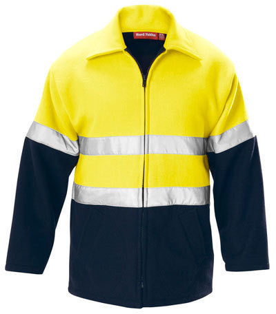 Hard Yakka Foundations Hi-Visibility Two Tone Bluey Jacket With Tape (Y06554)