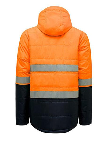 Hard Yakka Hi Vis 2Tone Puffa Jacket With Tape (Y06805)