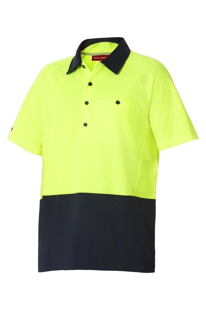 Hard Yakka - Koolgear Hi-Visibility Two Tone Ventilated Polo (Y11396)