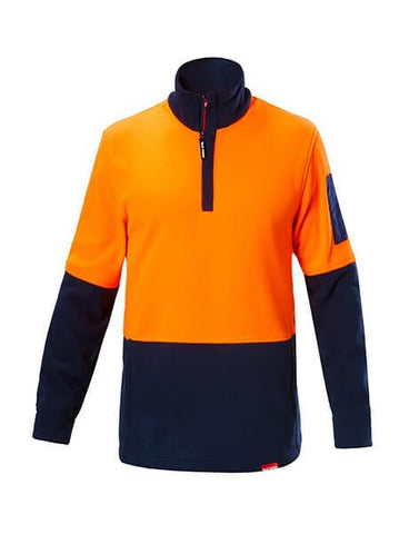 Hard Yakka Hi Vis 2Tone 1/4 Zip Brushed Fleece Jumper (Y19330)