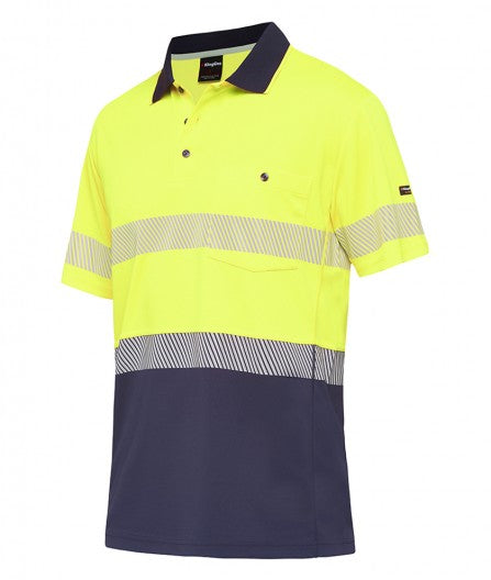 King Gee Workcool Hyperfreeze Spliced Polo Short Sleeve with Segmented Tape (K54215 )