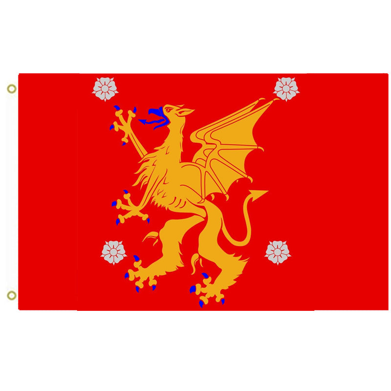 Ostergotland Flag County And Province Of Ostergotland Sweden Flag Ind Fyonshop
