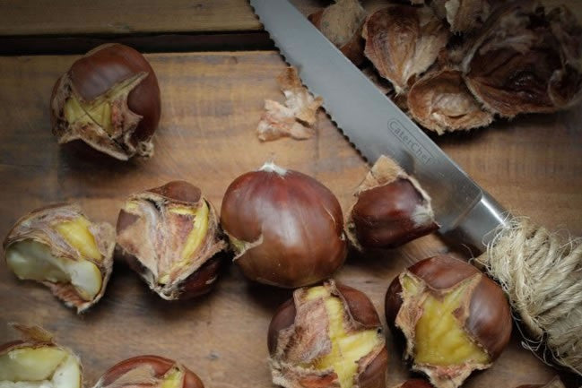 Preparing Organic Chestnuts - Quick and Easy