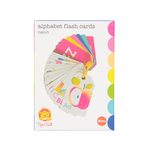Alphabet Flash Cards - Neon (4731401404499)