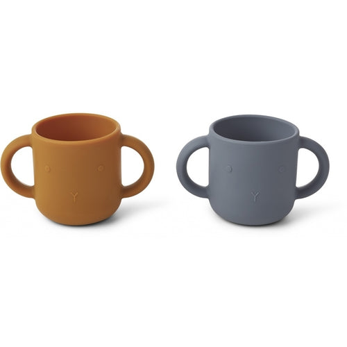 Gene Silicone Cup - 2 Pack/ Rabbit Blue Wave (4471830839379)