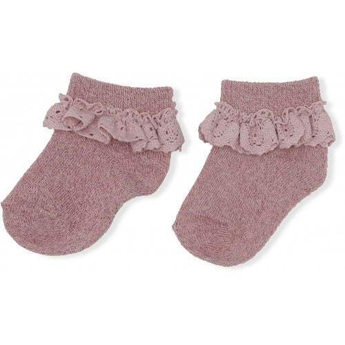 Lurex Lace Socks - Gold Blush (4409431949395)