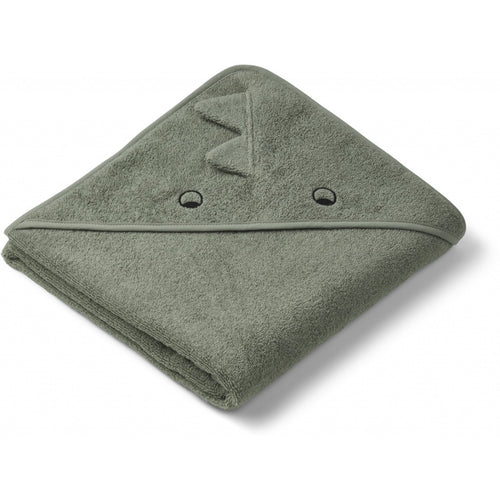 Augusta Hooded Towel - Rabbit Faune Green (4472784486483)
