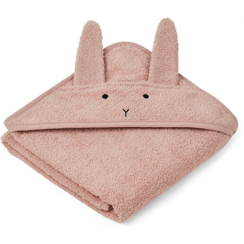Albert Hooded Towel - Rabbit Rose (4472785666131)