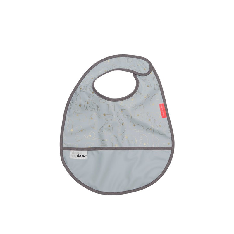 Bib With Velcro Contour - Gold/Grey (4437197029459)