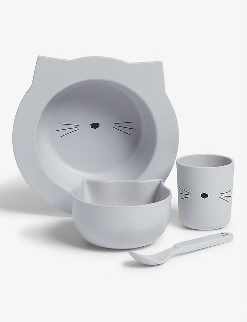 Barbara Bamboo Baby Set -  Cat Dumbo Grey (4441904578643)