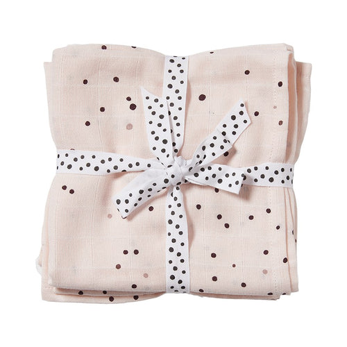 Burp Cloth (2-pack) Dreamy Dots - Powder (4437857534035)