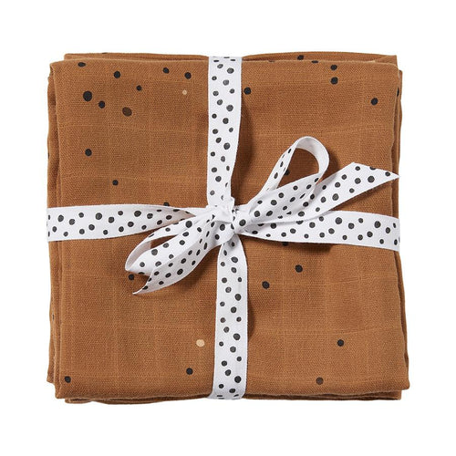Burp Cloth (2-pack) Dreamy Dots - Mustard (4510475321427)