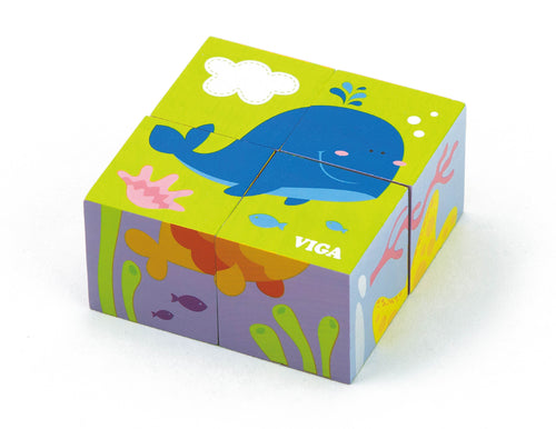 6-Sided Cube Puzzle - Sea (4pcs) (4284621684819)