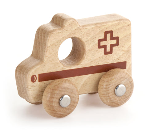 Wooden Ambulance Toy