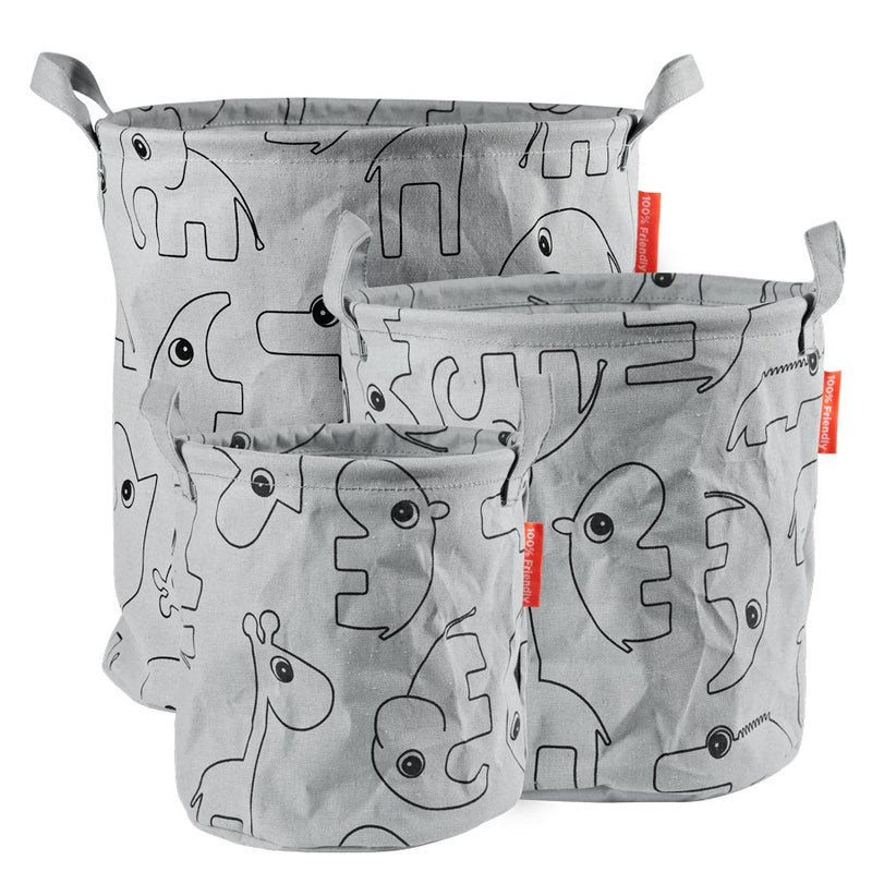 Storage Baskets Contour (3 pcs ) - Grey (4437837807699)