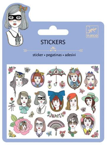 Portraits Glitter Stickers (4466948866131)