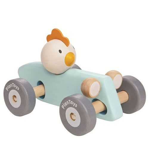 Wooden Chicken Racing Car (4702507794515)
