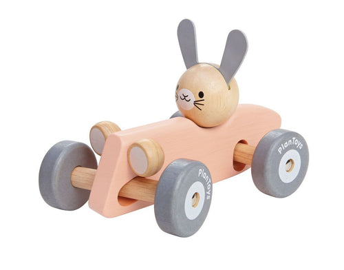 Wooden Bunny Racing Car (4702508056659)