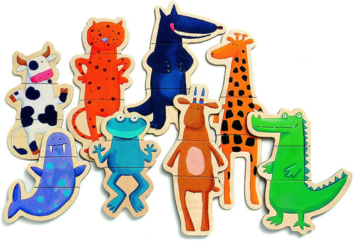 Wooden Magnetic Crazy Animals (4467360497747)