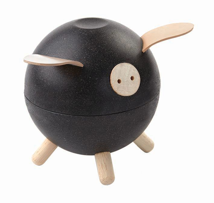 Wooden Piggy Bank Black (4702510973011)