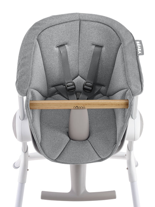 Highchair Up&Down Textile Seat - Grey/White (4725666349139)