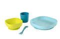 Silicone Meal Set of 4 - Blue (4725683716179)