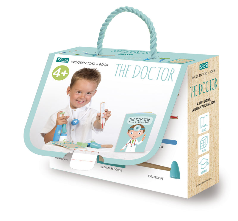 Copy of Book And Wooden Toys The Doctor (4679705493587)