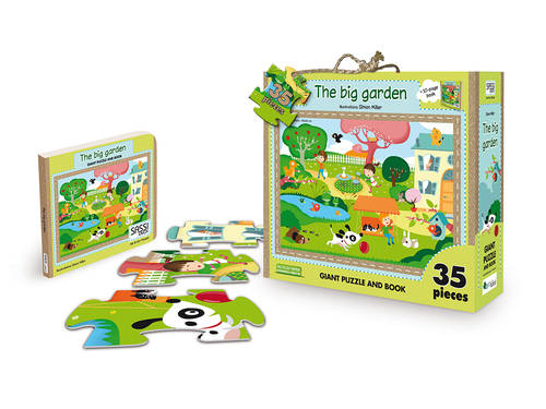 Giant Puzzle And Book The Big Garden (4679722270803)