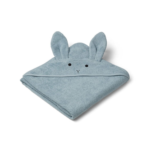 Augusta Hooded Towel - Rabbit Sea Blue (4473249038419)