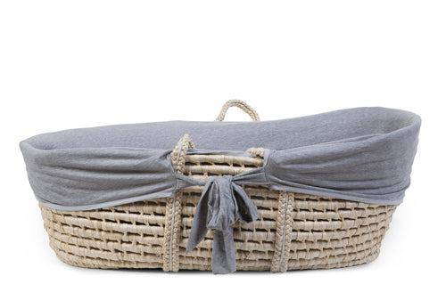 Moses Basket - Cover - Jersey Grey (4680825667667)