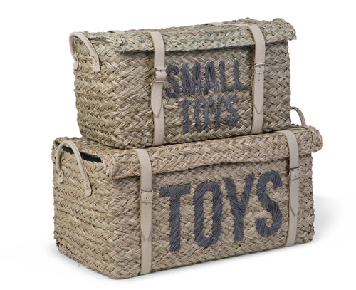 Rattan Basket + Belt Toys + Small Toys Set of 2 (4721436459091)