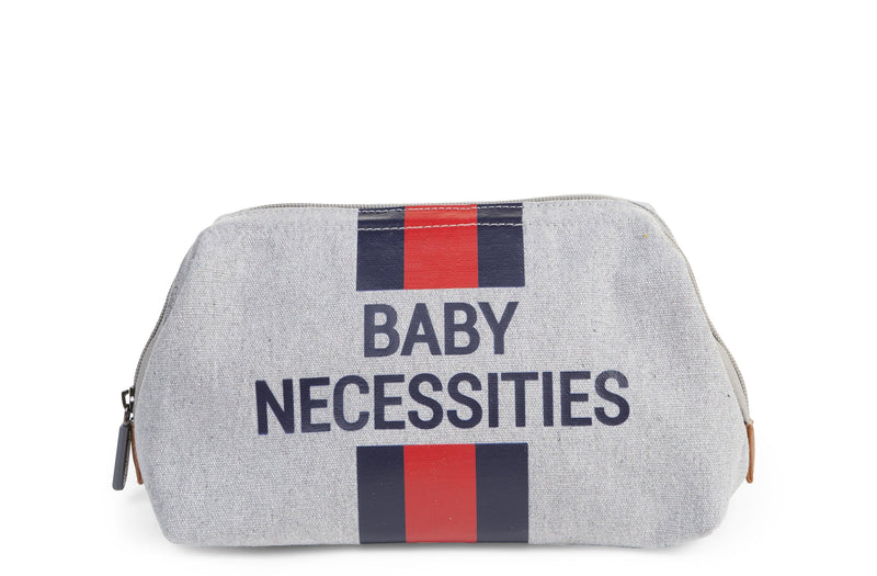 Baby Necessities - Grey Stripes Blue/Red (4680546549843)