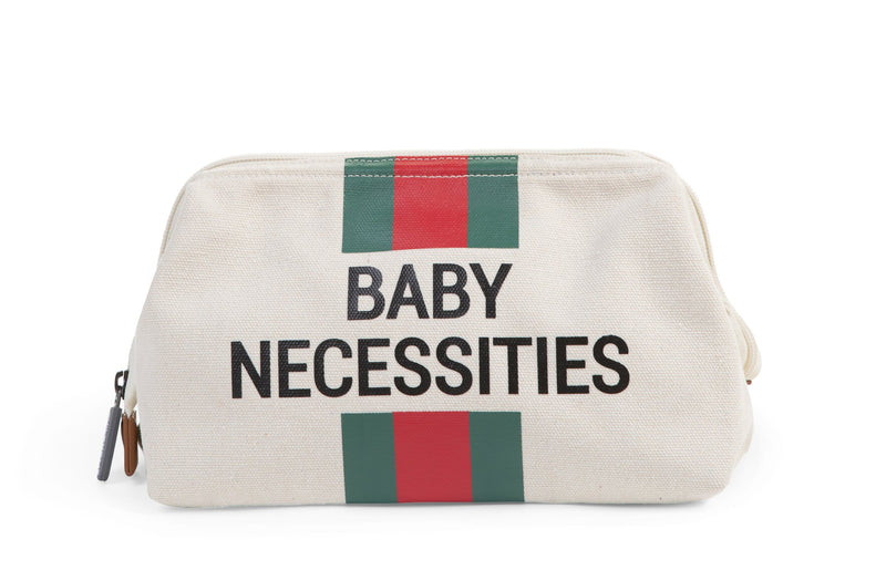 Baby Necessities - Off White Stripes Green/Red (4680549793875)