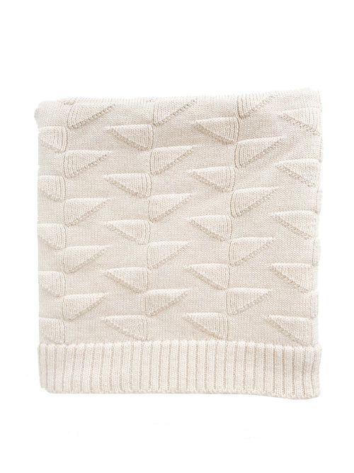 Charlie Merino Wool Blanket - Off-White