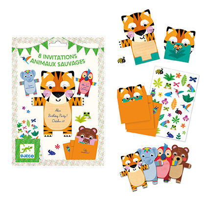 Wild Animals Invitation Cards (4467350569043)