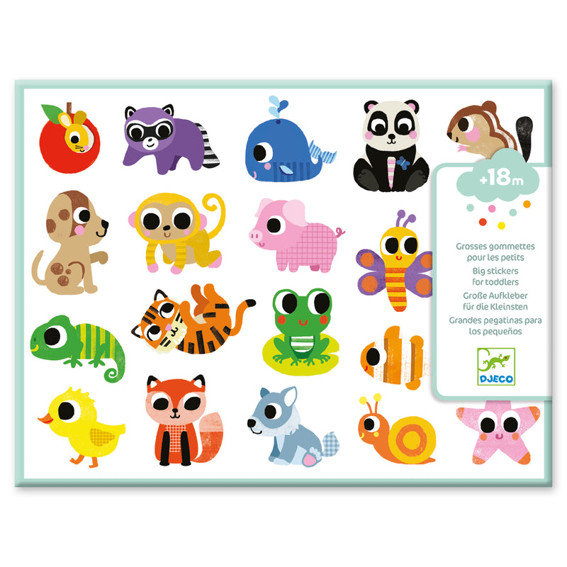 Baby Animals Big Stickers (4710073466963)
